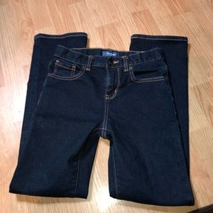 Old Navy darker blue jeans adjustable waist sz 12
